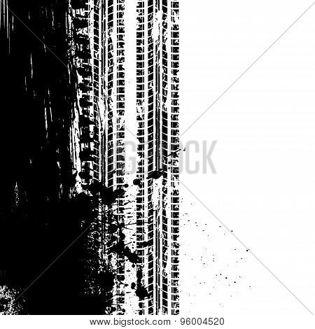 Ink tire track background