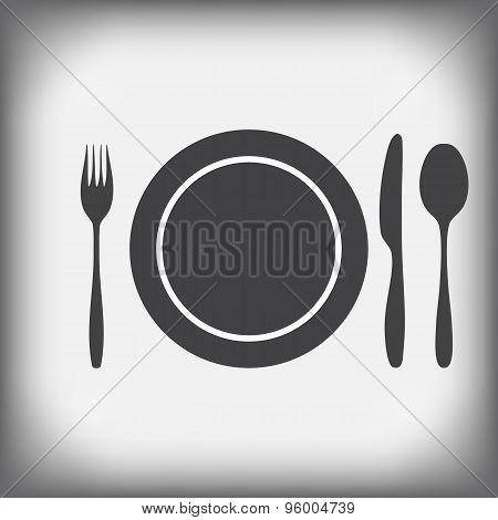 Plate, Knife, Fork, Spoon