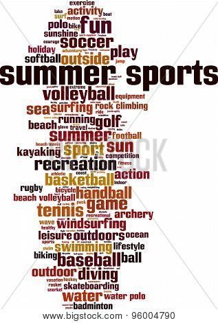 Summer Sports Word Cloud
