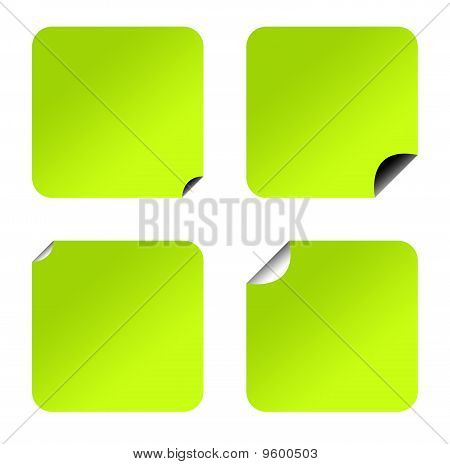 Blank Green Eco Stickers