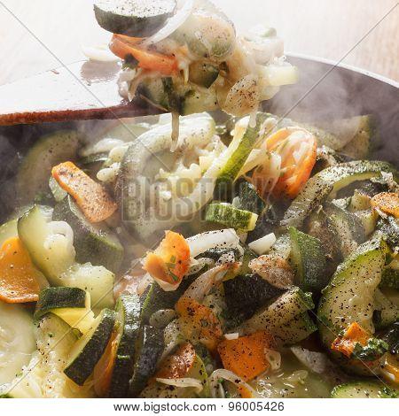 Cooking Vegetable Stew