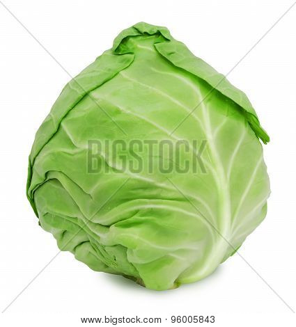 Fresh green ripe cabbage