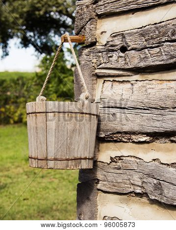 Rustic Wooden Pail