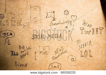 Hand Drawn Social Media