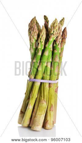 Fresh asparagus isolated white