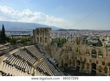 Dionysos Theater Of Athens City In Acropolis