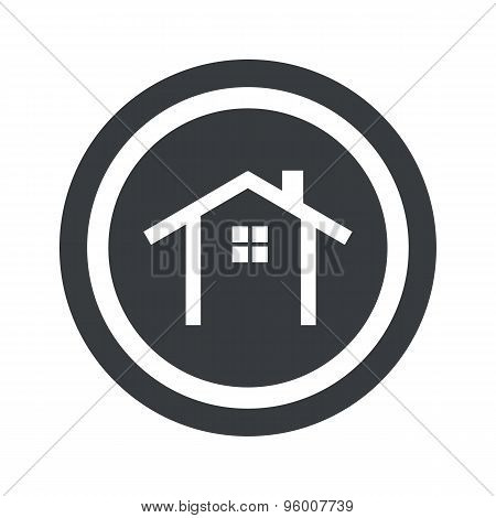 Round black cottage sign