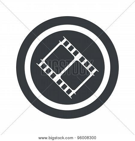 Round black movie sign