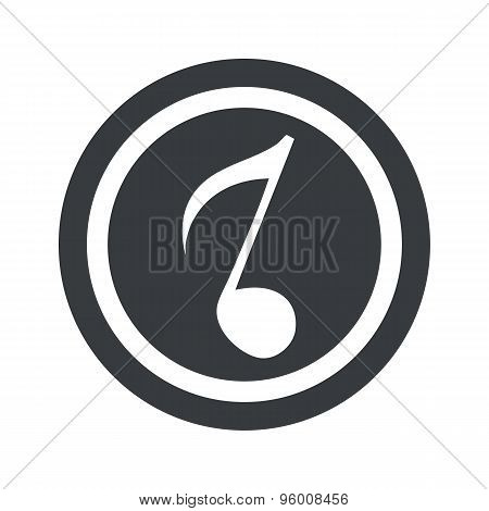 Round black 8th note sign