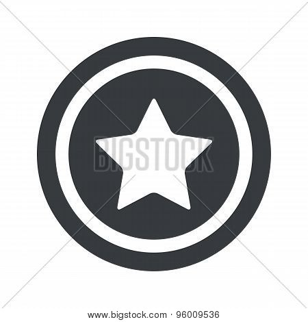 Round black star sign