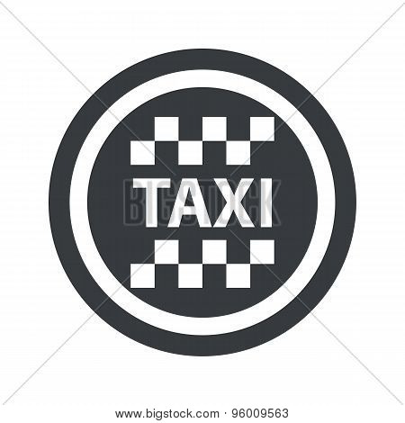 Round black taxi sign