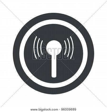 Round black signal sign
