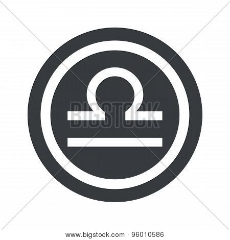 Round black Libra sign