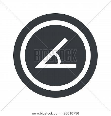 Round black angle sign