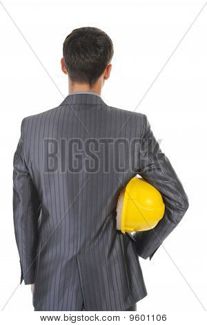 Man With Construction Helmet