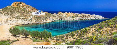 emerald beaches of Greece - Serifos island , Cyclades