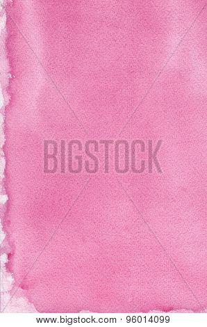 Pink Natural Handmade Aquarelle Painting Texture Pattern, Vertical Textured Watercolor Paper Macro