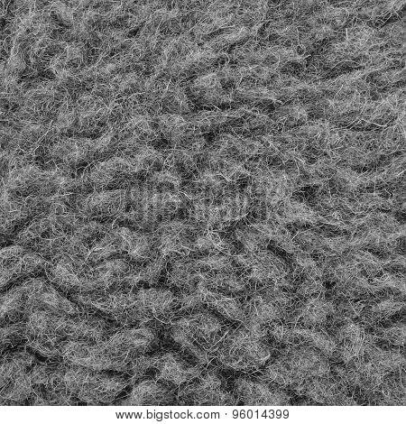 Raw Merino Sheep Wool Macro Closeup, Large Detailed Grey Textured Pattern Copy Space Background
