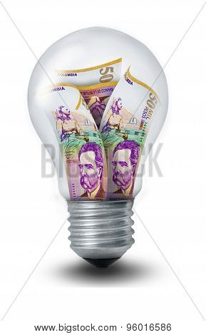 Colombian Peso Lightbulb