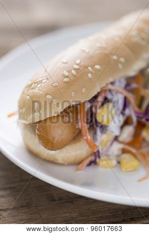 Hotdog Bun With Sausage