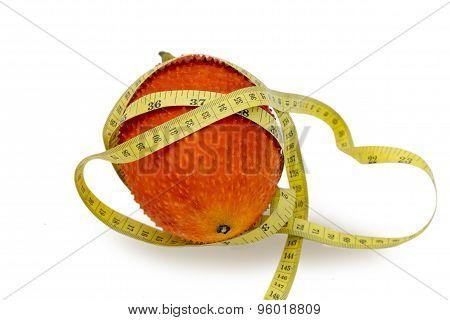 Gac Fruit With Measuring tape