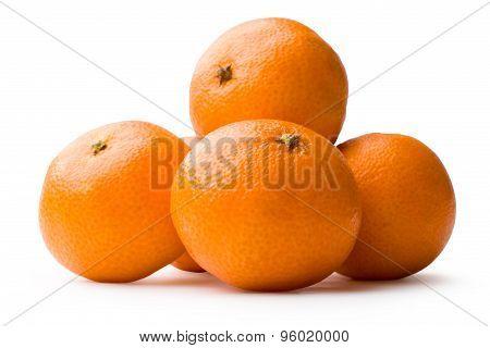 Tangerine On White