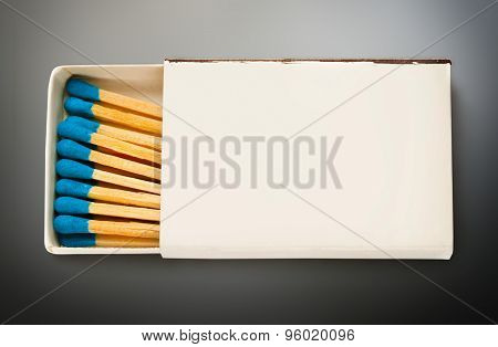 Blank Box Of Blue Matches