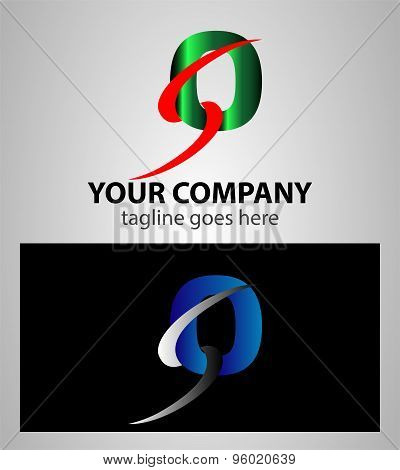 Number one 0 logo icon design template elements