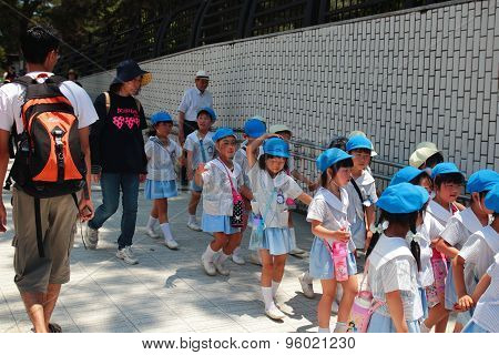 Japan School children group