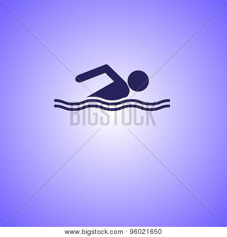 Swimming Line Icon