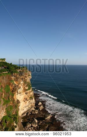 Cliffs near Uluwatu Temple on Bali, Indonesia