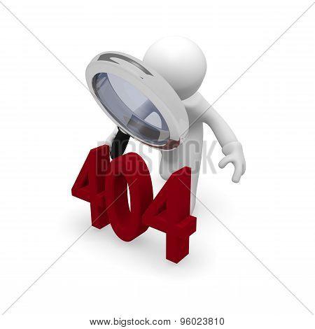404 Error Concept In 3D
