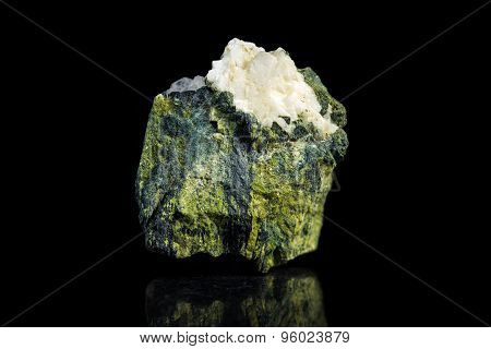 Aventurine Quartz In Front Of A Black Background