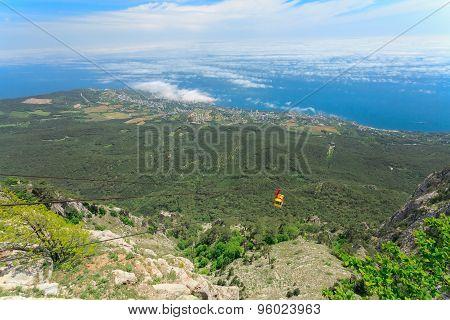 Mishor, Crimea, Ukraine - May 12. People Travel