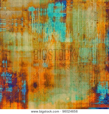Abstract old background or faded grunge texture. With different color patterns: yellow (beige); brown; blue; green