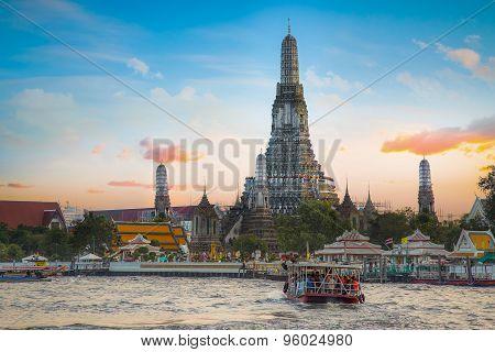 Wat Arun - Temple of Dawn in Bangkok, Thailand