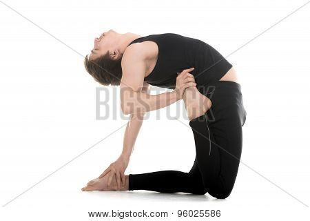 Yoga Pose Ushtrasana Variation