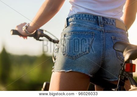 Sexy Young Biker Woman