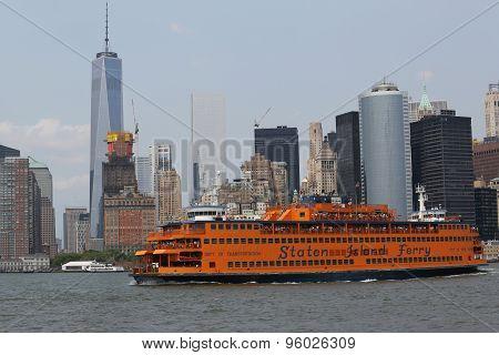 Staten Island Ferry in New York Harbor