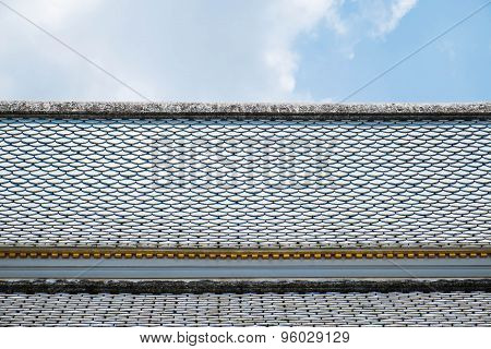 Part roof of temple in Thailand
