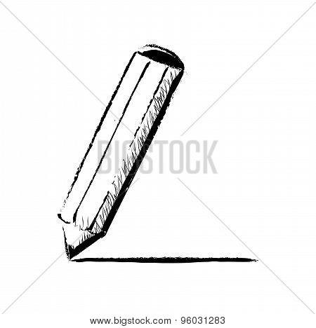 Pencil vector doodle illustration