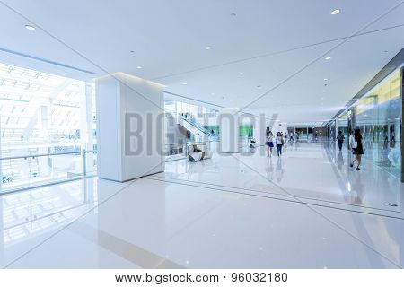 Modern shopping mall interior