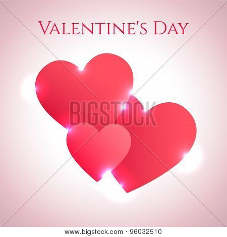 Valentine Day abstract card