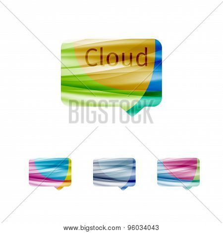 Cloud Speech Bubble Abstract Sign