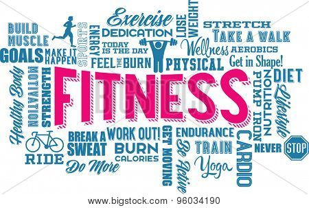 Fitness Word Cloud and Collage
