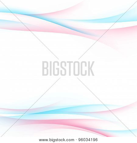 Colorful Bright Swoosh Smooth Wave Background