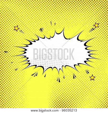 Comic Book Style Abstract Yellow Background