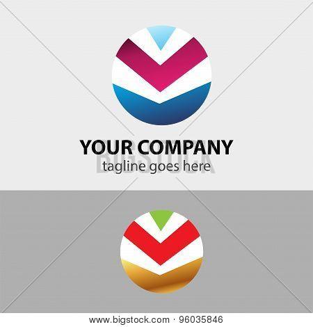 Abstract modern icon sign vector design template