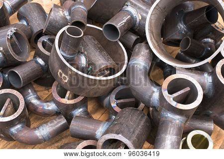 Pieces Of Steel Tube