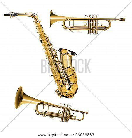 Trumpet And Saxophone